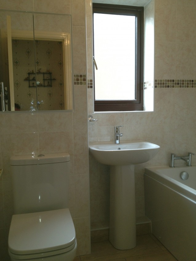 Another Bathroom installation in Norton by a Malton plumber