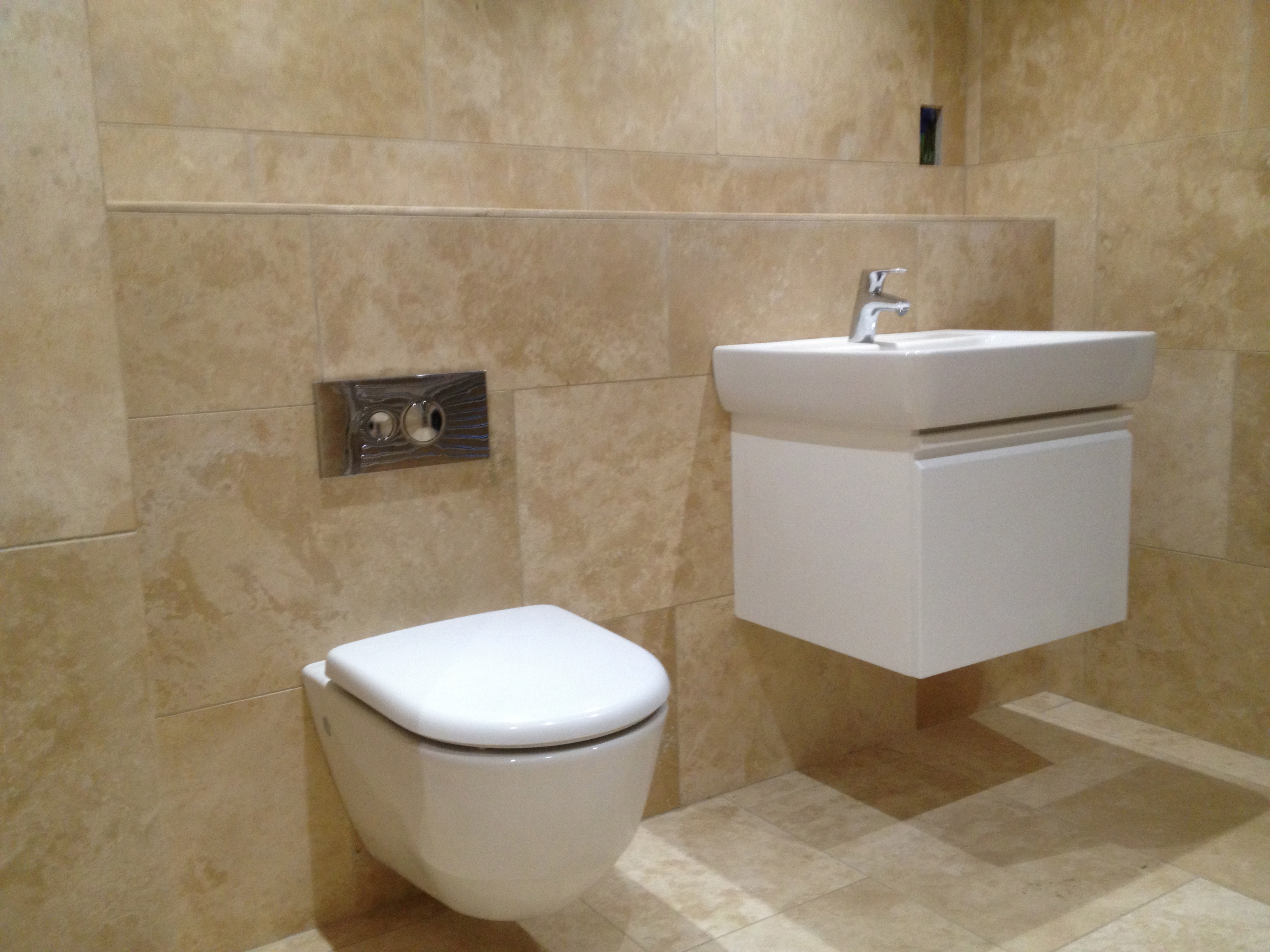 bathroom installation from a malton plumber